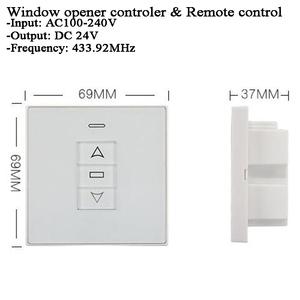 Image 4 - DC24V 220vチュウヤ窓カーテンスイッチ無線lan 433 433mhzのrfリモートコントロールウィンドウアクチュエータスイッチ