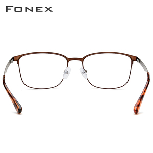 Image 4 - FONEX سبائك النظارات الإطار النساء الجولة وصفة النظارات الرجال Vintage قصر النظر إطارات البصرية الكورية بدون مسامير نظارات