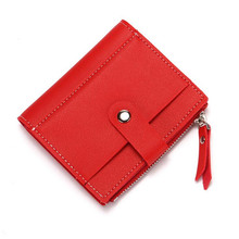 Card Package For Women Creative PU Leather Ladies Wallet Credit Card Holder Zipper Coin Purse Fashion Buckle Card Wallet bovis 8019 1 fashion man s pu credit name card wallet w slots buckle light coffee