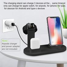 NEW Charging Dock Station 3 in 1 Bracket Stand For Apple Watch Airpods For iPhone X XR XS MAX 8 7 6S Plus 5S Phone USB Charger