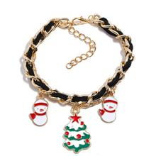 Pop Christmas Series Bracelet Lovers Gift Bell Bow Wreath Xmas Tree Snowman Cartoon Cute Couple Accessory