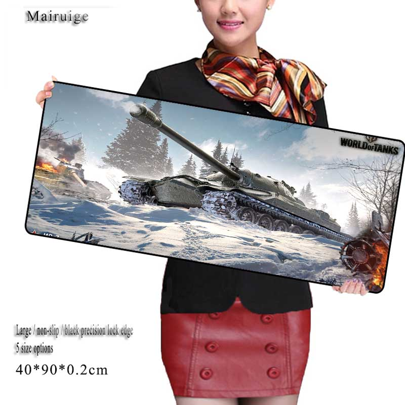 Mairuige 900*400*3mm Free Shipping World Of Tanks Large Mouse Pad Grande Keyboards Mat For Dota LOL CS Go For Game Player