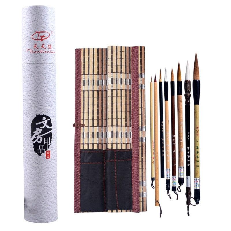 Calligraphy Brush Pen Set Caligrafia Tinta China Chinese Painting Brush Set Meticulous Painting Calligraphy Painting Writing Set