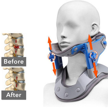 Heating Neck Collar Correction Repair Neck Cervical Traction Apparatus Moxibustion Heat Treatment Of Cervical Spine Massager hanriver the new nursing waist yoga therapy tool strength support towing cervical traction apparatus