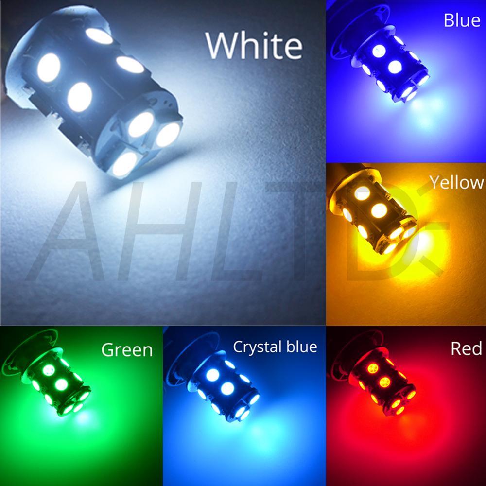 hviero 1156 BA15S P21W 1157 BAY15D Red Strobe Lamp 5050 13SMD Super Bright LED Bulbs 12V Car Brake Turn Signal Tail Flashing Light DC 12V 19