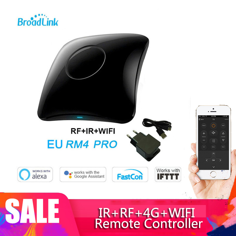2020 Newest Broadlink RM4 Pro IR RF Wifi UNIVERSAL REMOTE Smart Home Automation Works With Alexa And Google Home