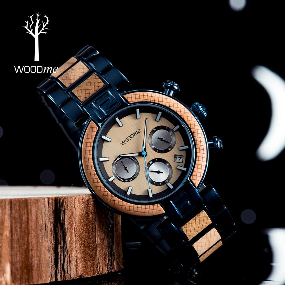 Reloj Hombre WOODME Military Watch Men Chronograph Wristwatch TOP Luxury Brand Watches Man Present In Gift Box Dropshipping