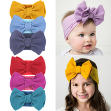 Baby Girl Headband For Children Baby Hair Accessories 3pcs/lot Nylon Bowknot Hair Bands Infant Turban Newborn Headband For Girls sunlikeyou baby headband butterfly girls embroidery hair bands for girls kids headbands turban newborn baby hair accessories