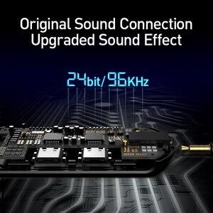 Image 5 - Baseus 3 في 1 USB نوع C OTG محول USB C إلى 18 واط سريع شحن جاك 3.5 مللي متر Aux سماعة OTG كابل محول لسامسونج نوت 10