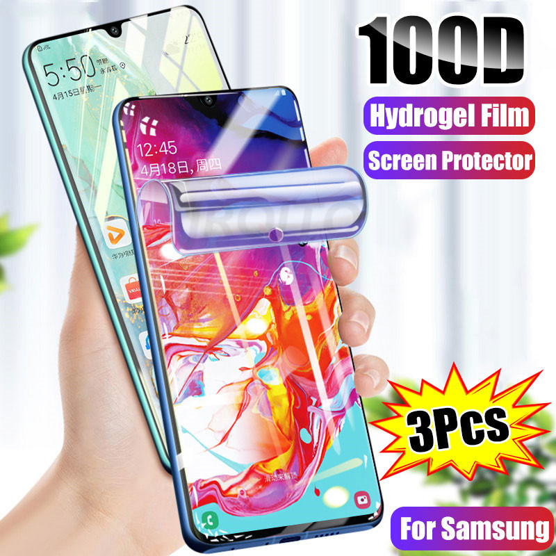 3-1PCS 100D Hydrogel Film Screen Protector For Samsung Galaxy A50 A51 A70 A10 A20 20E A30 A40 A60 A80 A90 M10 M20  A51 Not Glass