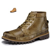 New Men 's Boots High Quality Boots Genuine leather Fashion Tooling Male Leisure Fashion Season Man Boots