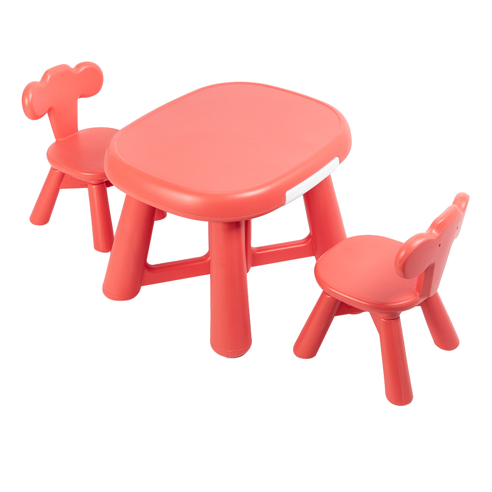 Children Table And 2 Chair Set High Quality Plastic Kid's Learning Table For Toddlers And Preschool-aged Children Free Shipping
