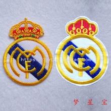 Клейкая Ткань красивая вышивка эмблема футбольной команды значок спортивный стиль наклейки для одежды аксессуары наклейки