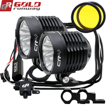 GOLDRUNWAY GR CR4 35Wสามารถหรี่แสงได้ 3 Strobesเสริมรถจักรยานยนต์ไฟLED