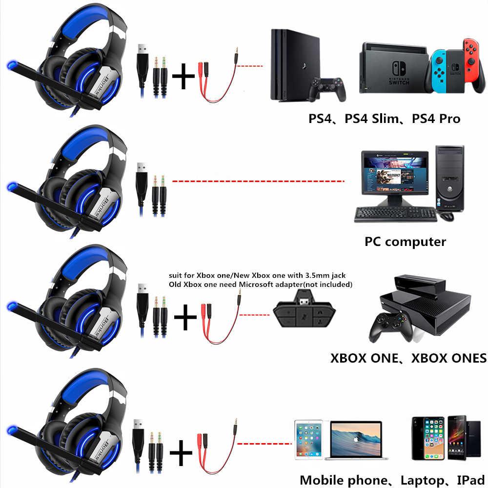 Игровая гарнитура PS4 наушники Игровые наушники проводные бас стерео шлем с микрофоном для PS4 Новый Xbox One ноутбук планшет геймер
