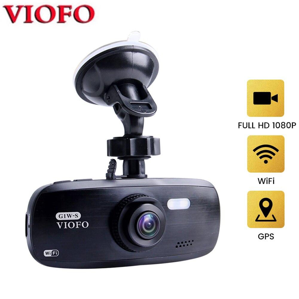 VIOFO G1W-S Поддержка WI-FI и GPS автомобиля Камера Модернизированный DVR HD 1080P Dash Cam супер конденсатор с алюминиевой крышкой, видеокамера Sony IMX323