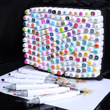 professional markers 168 Color Brush Pen Alcoholic Oily based ink Art Marker marcadores plumones For coloring drawing Manga