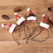 4 вида НОВАЯ РОЖДЕСТВЕНСКАЯ шапка для рождественской вечеринки, праздничные украшения, реквизит, блестки для волос, аксессуары