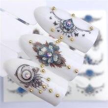 12 pçs adesivo de água do prego decalques mix laço flor flamingo animal envoltórios completos unhas tatuagem adesivo manicure decoração dicas conjunto