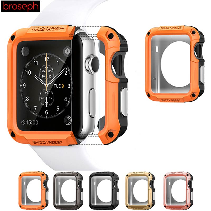 Screen Protector Shell <font><b>Case</b></font> for Apple <font><b>Watch</b></font> 38mm <font><b>42mm</b></font> SGP TPU Full Cover Protective Cover for iwatch Series 1 2 3 4 40mm 44mm image