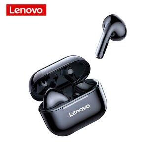Image 5 - New Lenovo LP40 Wireless Bluetooth Earphones TWS Earbuds IP54 Waterproof headset HiFi Wireless Headset With Mic Sport ear buds