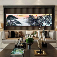Mountain Framed Oil Painting By Numbers Flowers Canvas Painting For Living Room Wall Art Home Decor Landscape Abstract Print