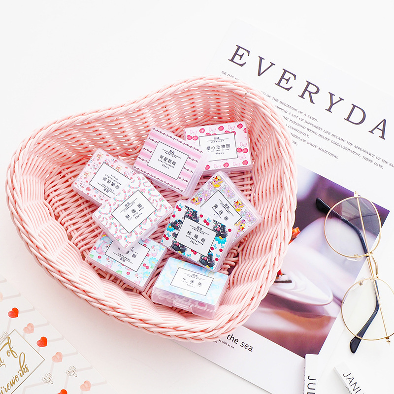 40pcs/1lot Kawaii Stationery Stickers Girly Heart Diary Decorative Mobile Stickers Scrapbooking DIY Craft Stickers