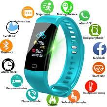Relógio inteligente senhoras monitor de freqüência cardíaca monitor sono pedômetro queima calorias quilometragem cronômetro esportes pulseira à prova dwaterproof água