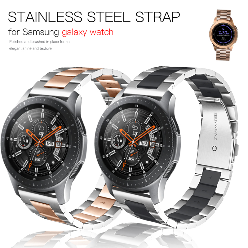 Metal Link Bracelet Stainless Steel Strap For Samsung Galaxy Watch 46mm 42mm Gear S3 Frontier Strap For Huawei Watch GT Strap 20