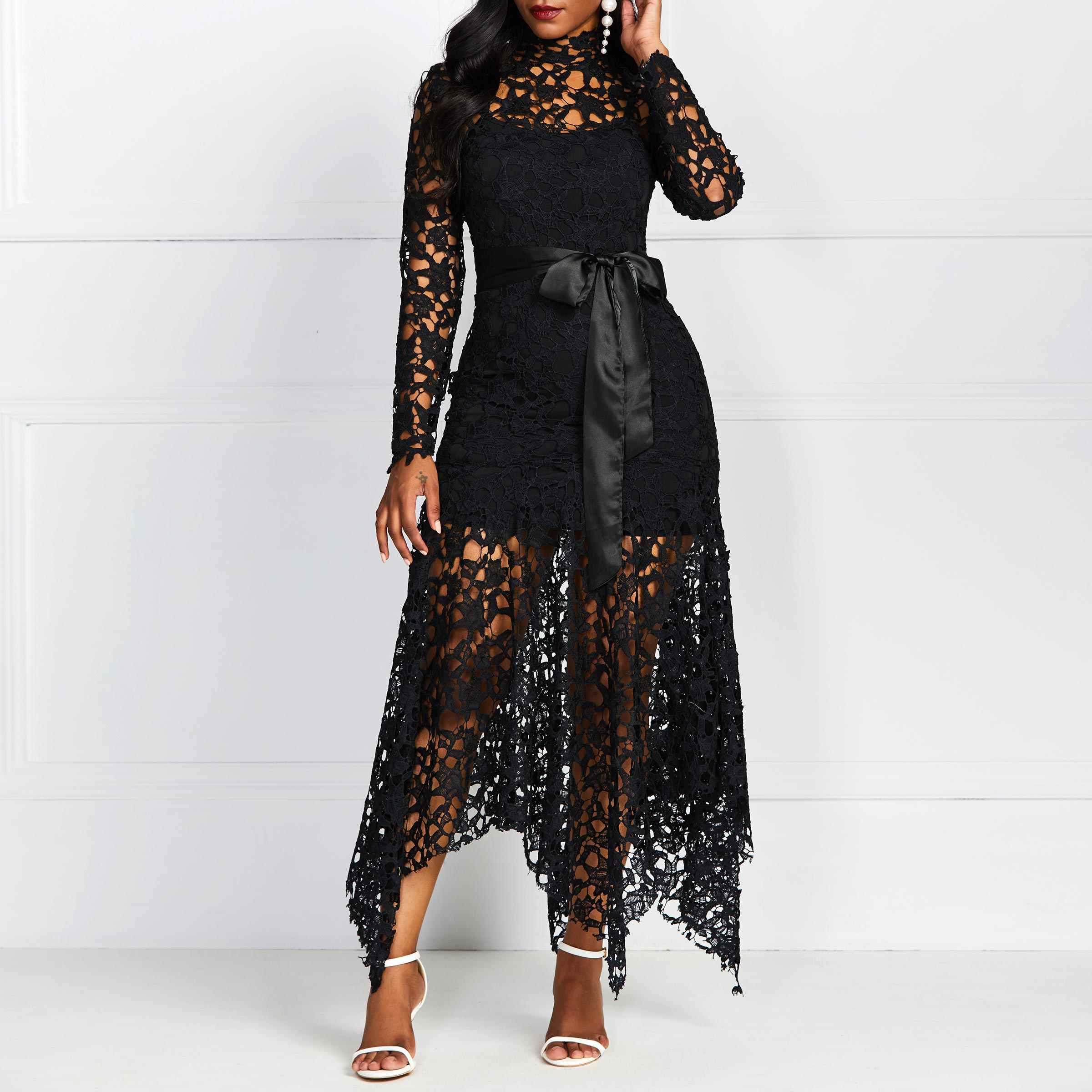 Вечерние, сексуальные, черные, синие платья 2019, вечерние, облегающие, женские, длинные, кружевные, сетчатые, пляжные, облегающие, вечерние, африканские, модные, Макси платья