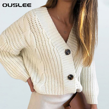 OUSLEE Cardigan Sweater Women Spring Autumn Casual Long Sleeve Button Knitted Sweaters Coat Femme Winter Warm Cardigan Sweaters kids children sweaters winter 2020 casual turtleneck knitted sweaters for girls warm boy sweaters cotton girls cardigan clothes