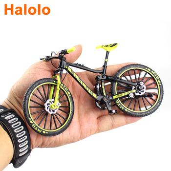 1 10 Mini Diecast rower ze stopu Model Metal Racing Finger Mountain bike kieszeń przenośna kolekcja symulacji zabawki dla dzieci tanie i dobre opinie Halolo CN (pochodzenie) 12 + y Miniaturowe rowery na palce Keep away from fire About 17 cm