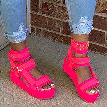 2020 Brand New Lady Platform Sandals High Quality Summer Gladiator Sandals Women Casual Party Wedges Shoes Woman 34-44 2019 gladiator women sandals wedges high heels sandals spring summer brown black female shoes casual lady shoes woman footwear