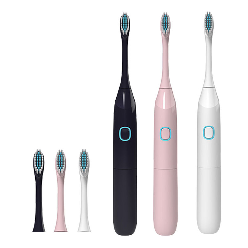 Portable Sonic Electric Toothbrush Teeth Whitening Oral Hygiene Dental Care AA Battery Operated With 2Pc Replacement Brush Heads image