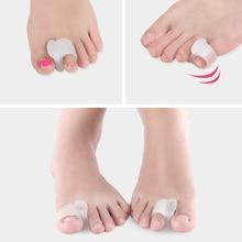 1Pair Toe Separator Insoles Ring Separation Hallux Valgus Correction Pad Finger Toe Separator Correction Pad Foot Care Tool