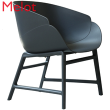 Nordic Dining Chair Modern Simplicity Bedroom Chair Light Extravagant Restaurant Handrail Black Chairs  for Sale
