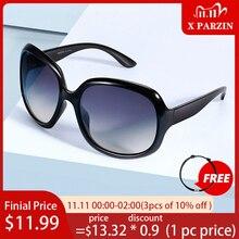 PARZIN polarize boy güneş kadınlar marka tasarım moda büyük çerçeve Retro kadın gözlük siyah UV400 Gafas De Sol Mujer