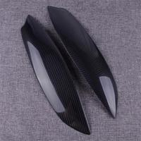 New Car Headlight Eyelid Eyebrow Cover Trim Stickers lamp Carbon Fiber Texture Fit for VW Volkswagen Golf GTI MK5 2005 2006 2007