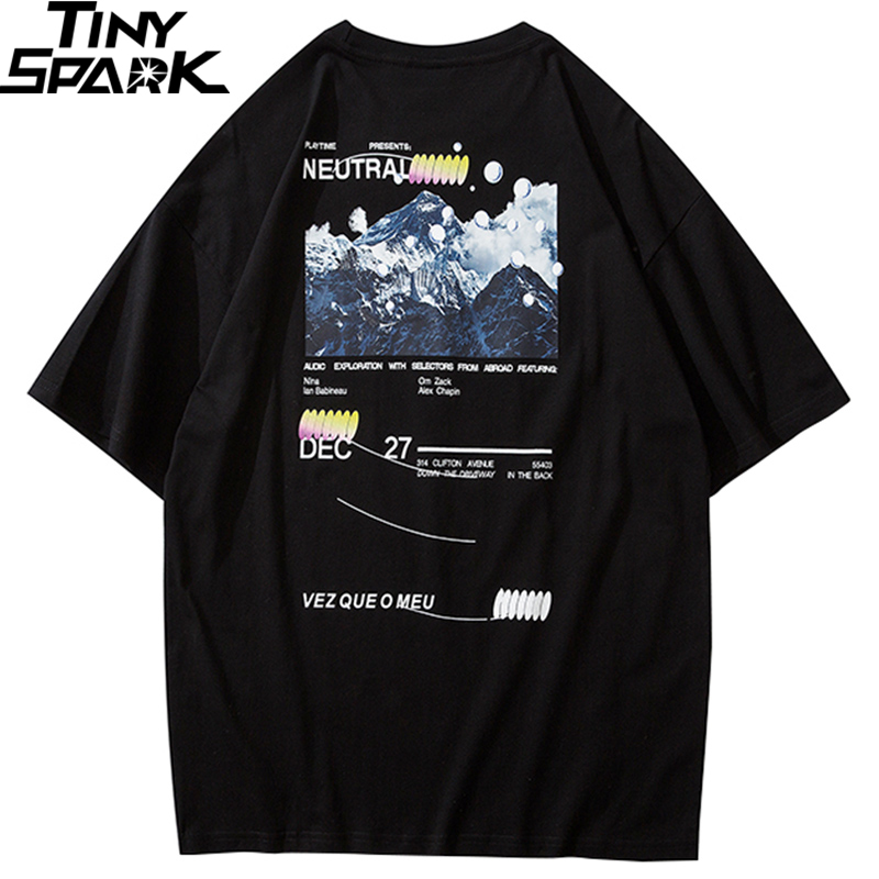 Hip Hop T Shirt Men 2020 Streetwear Iceberg Printed Tee Shirt Short Sleeve Cotton Casual T-Shirt Fashion Black Harajuku Tshirt