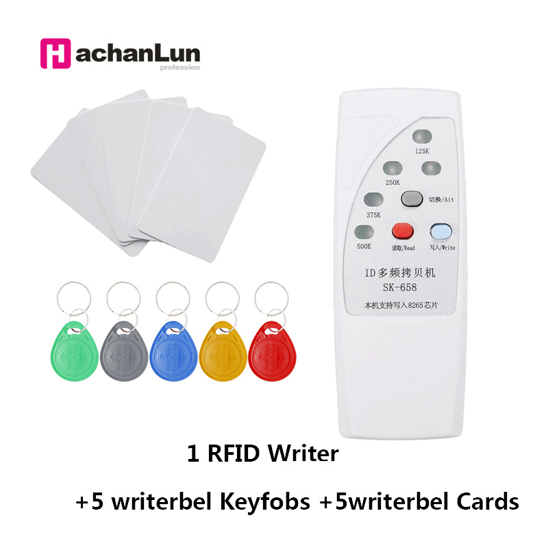 RFID Handheld 125Khz-13.56MHZ Copier Duplicator Cloner RFID NFC ID/IC Card Reader & Writer Cards Suit