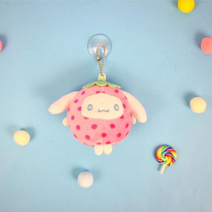 1pcs Cute Cartoon Strawberry My Melody Pendant Plush Toy Soft Stuffed Plush Toys For Kids Gifts