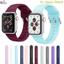 Strap Silicone Sports Band For Apple Watch 6 5 4 3 2 1 42MM 38MM rubber Watchstrap bracelet bands For Iwatch 6 5 4 3 40mm 44mm