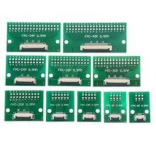 Plaque de transfert de câble plat FPC/FFC, connecteur d'espacement 0.5mm directement inséré, bricolage, 6P 8P 10P 12P 20P 24P 30P 40P 60P, 1 pièces