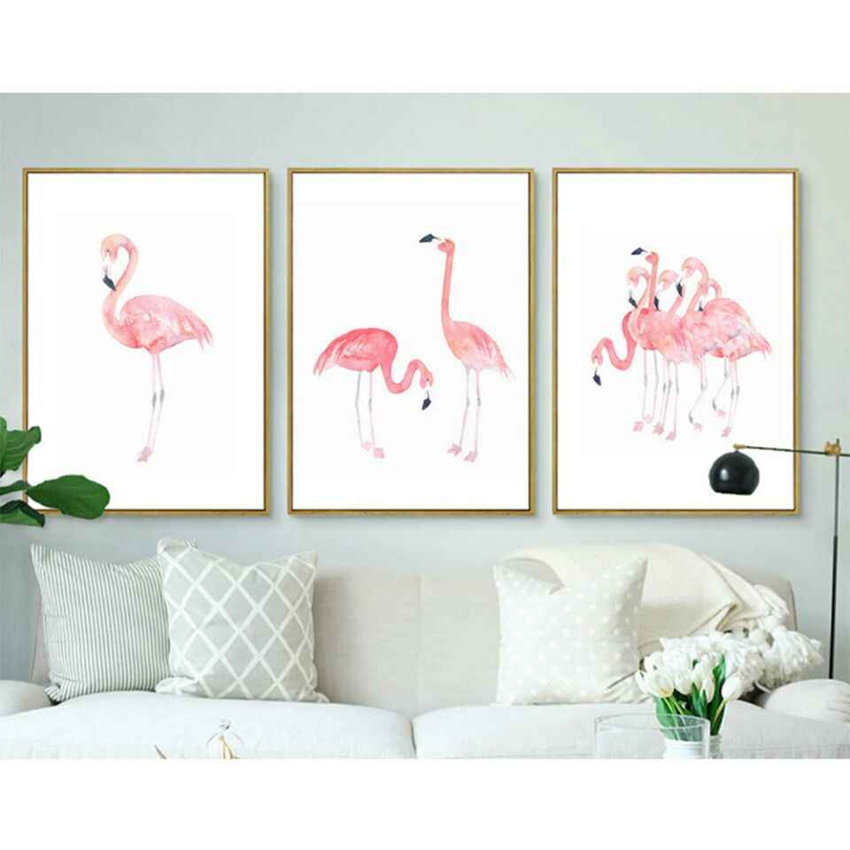 Pink Flamingo Decorative Painting Hallway Bedroom Wall Pictures for Living Room Garden Decoration Canvas Art Posters and Prints