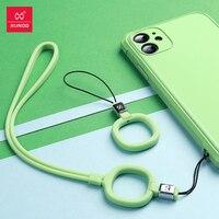 Xundd Silicon Phone Strap Weiche Bunte Handy Lanyard Hängen Seil Keychain Finger Straps String Für Xiaomi iPhone Huawei