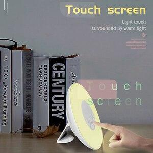 Image 4 - Wake Up Light Alarm Clock Sunrise/Sunset Simulation Luminous Digital Clock with FM Radio Night Light Touch Control Table Clocks