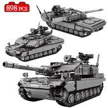 Cidade militar ww2 tanque de batalha principal modelo blocos de construção criador de alta tecnologia arma chariot soldado tijolos brinquedos para crianças presentes
