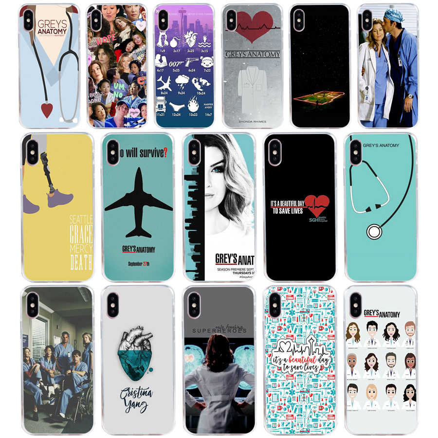 American TV Greys Anatomy  gift Soft Silicone Tpu Cover phone Case for iphone 5 5s se 6 6S 7 8 plus X XR XS Max case