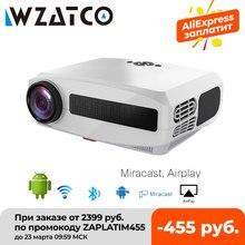 Новый светодиодный проектор WZATCO C3, Android 10,0, Wi-Fi, Full HD 1080P, 300 дюймов, большой экран, проектор, 3D домашний кинотеатр, умный видеопроектор