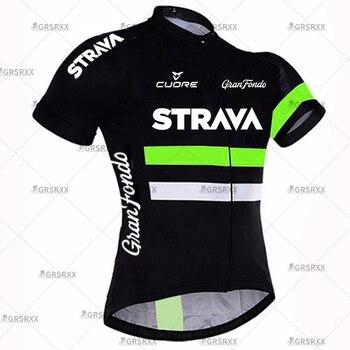 STRAVA Cycling Jersey Men Set Bib Shorts Set Summer Mountain Bike Bicycle Suit Anti-UV Bicycle Team Racing Uniform Clothes 9